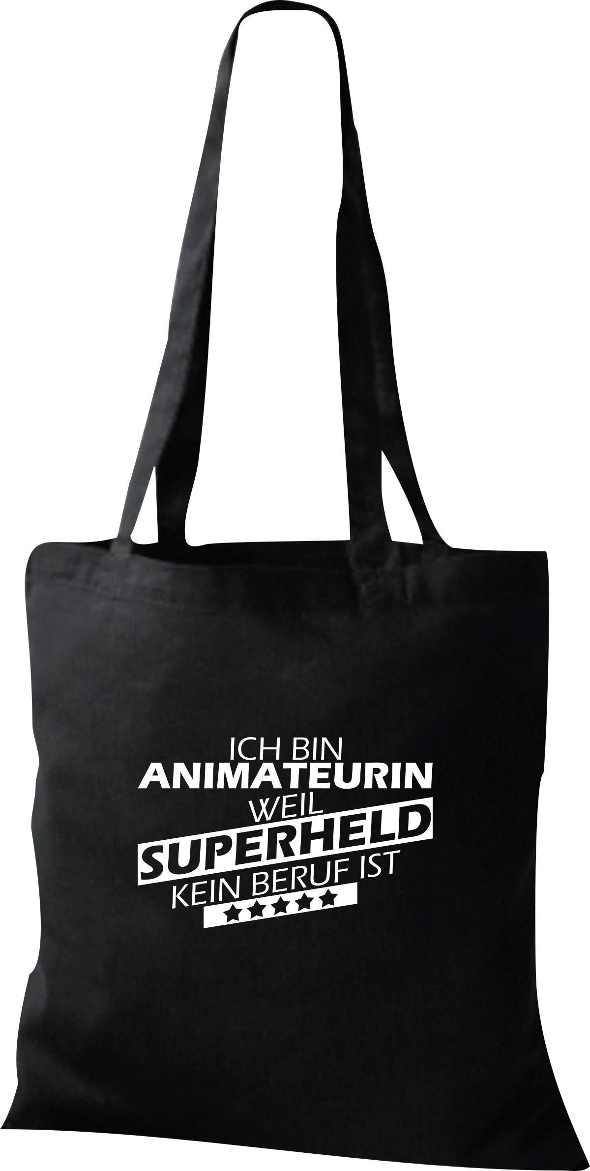 Organic-Shopper-Ich-bin-Animateurin-weil-Superheld-kein-Beruf-ist