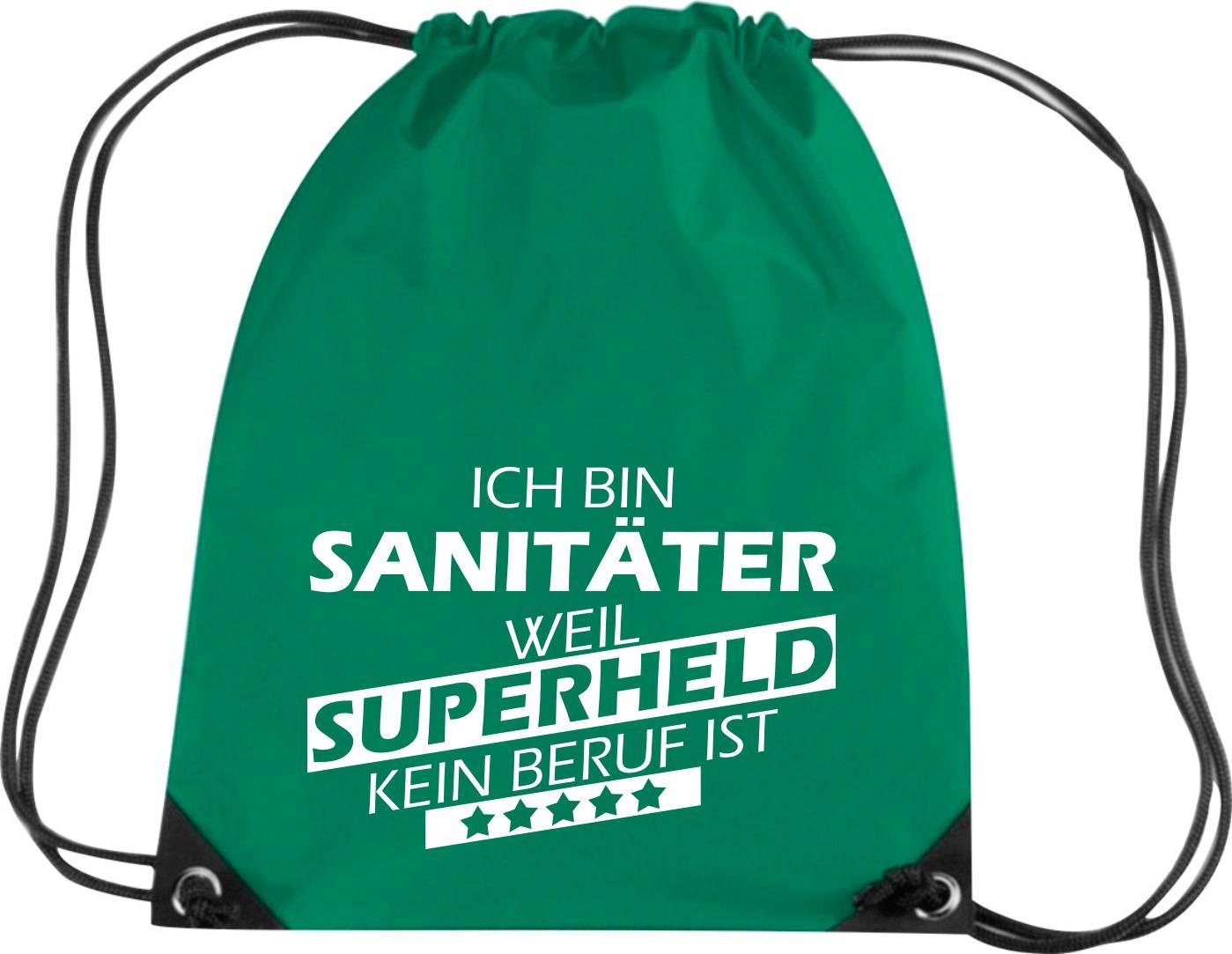 Premium-Gymsac-Ich-bin-Sanitaeter-weil-Superheld-kein-Beruf-ist