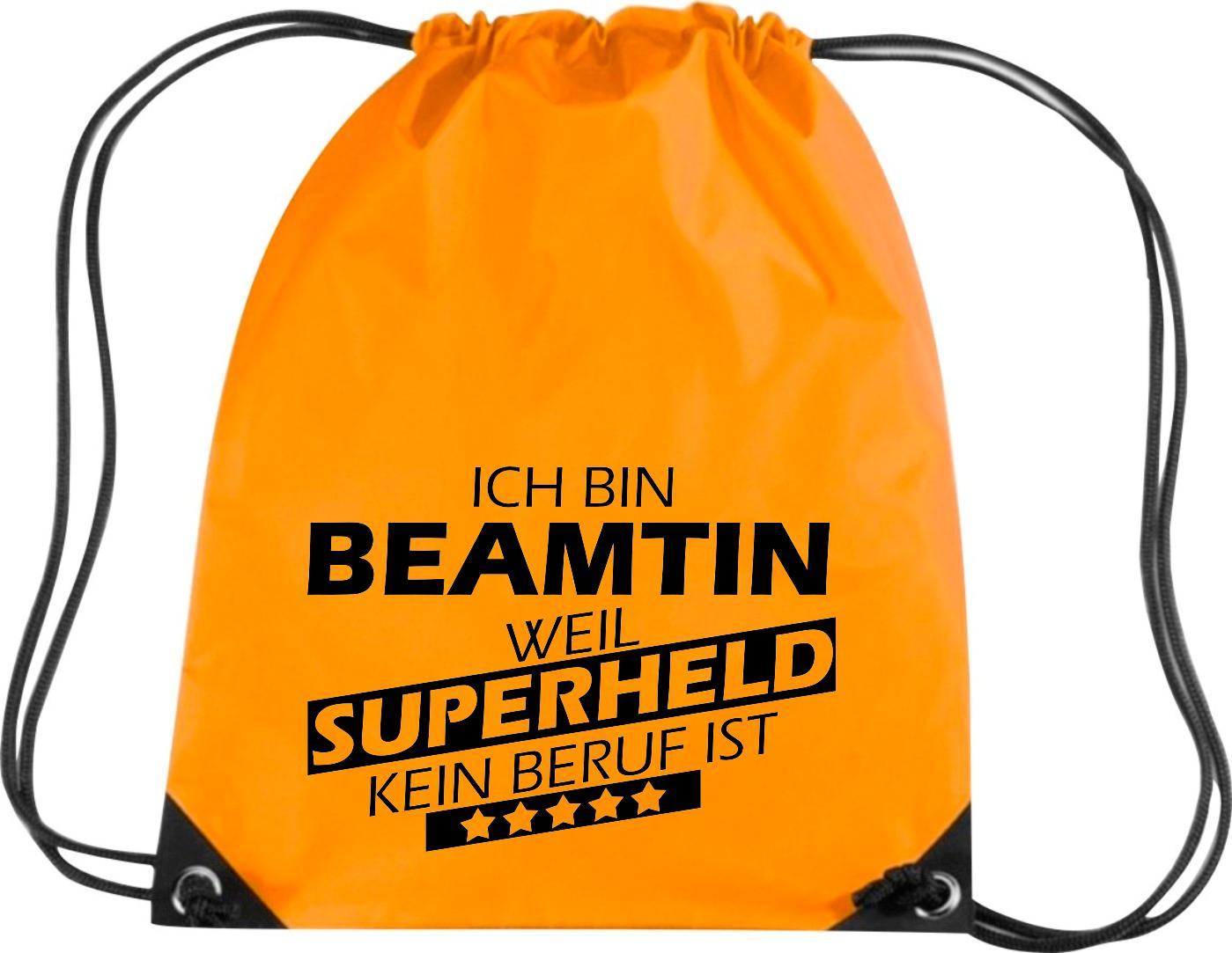Premium-Gymsac-Ich-bin-Beamtin-weil-Superheld-kein-Beruf-ist