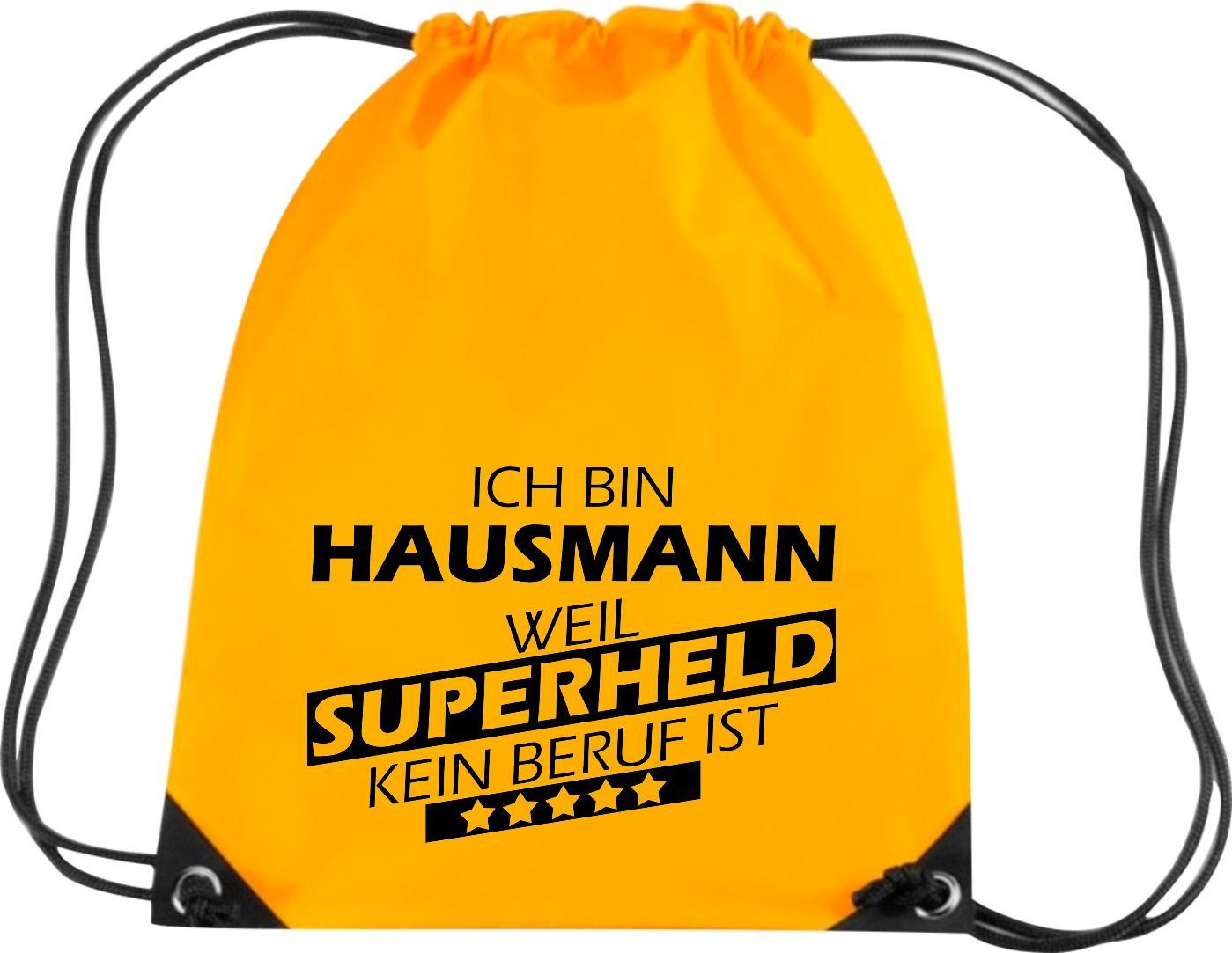 Premium-Gymsac-Ich-bin-Hausmann-weil-Superheld-kein-Beruf-ist