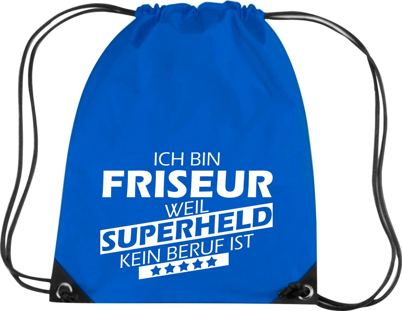 Premium-Gymsac-Ich-bin-Friseur-weil-Superheld-kein-Beruf-ist