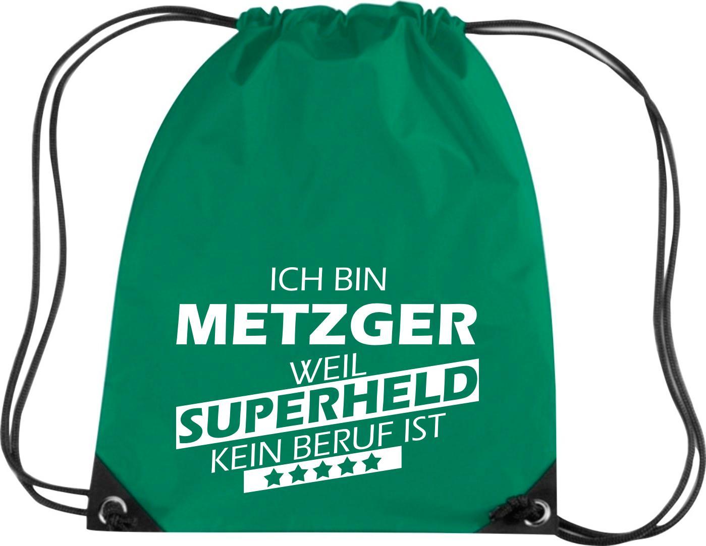 Premium-Gymsac-Ich-bin-Metzger-weil-Superheld-kein-Beruf-ist