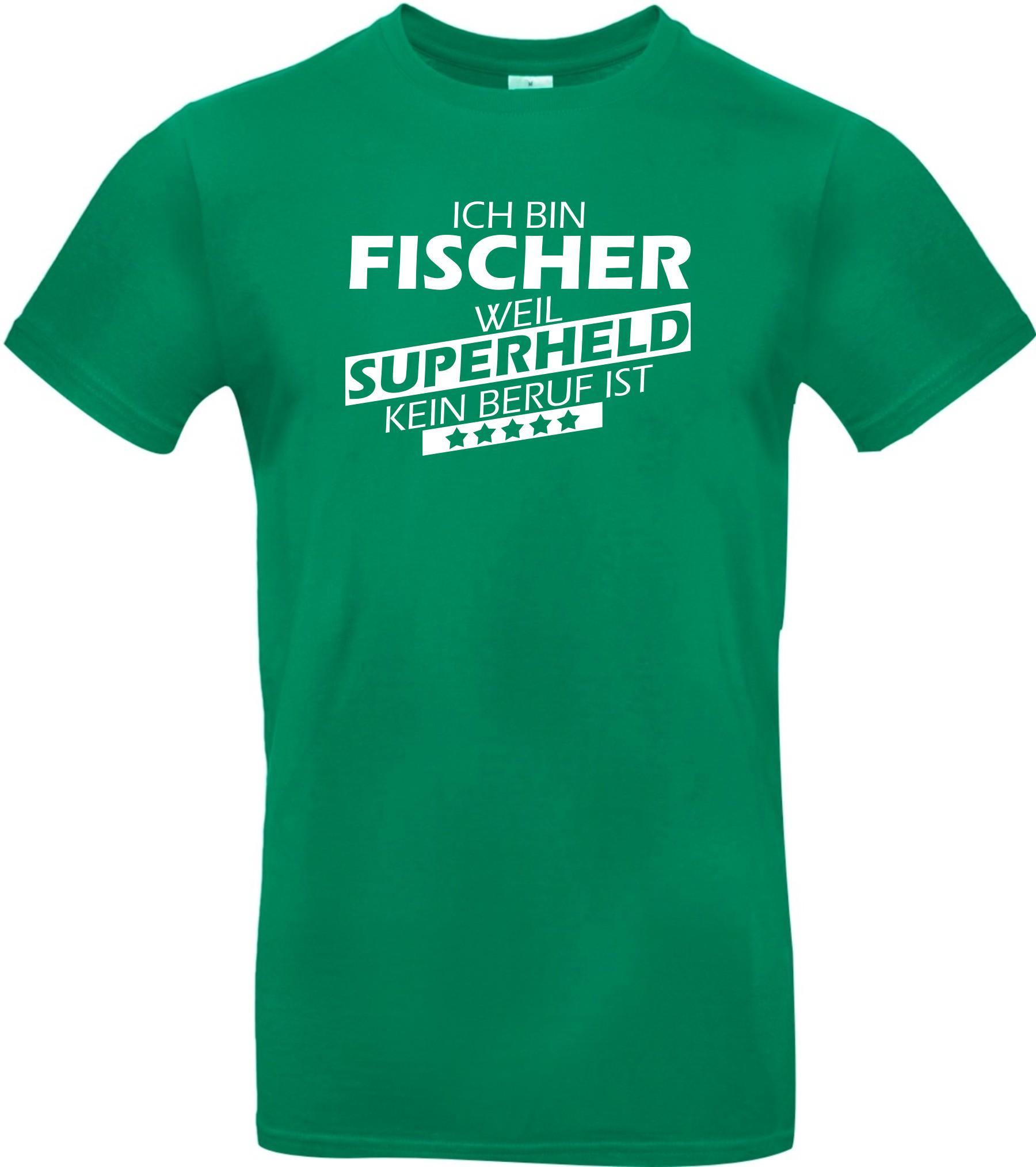 Maenner-Shirt-Ich-bin-Fischer-weil-Superheld-kein-Beruf-ist