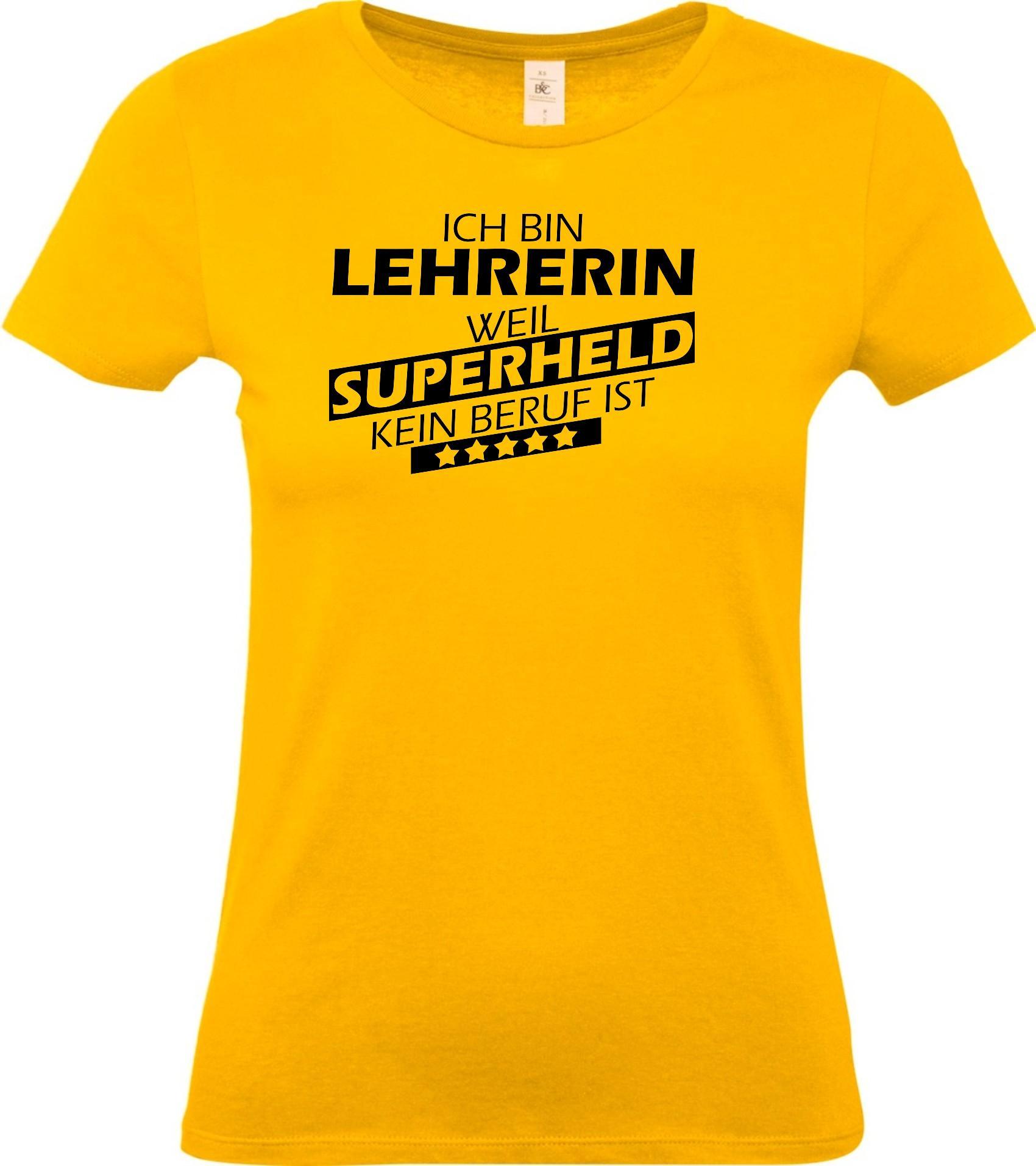 Lady-T-Shirt-Ich-bin-Lehrerin-weil-Superheld-kein-Beruf-ist