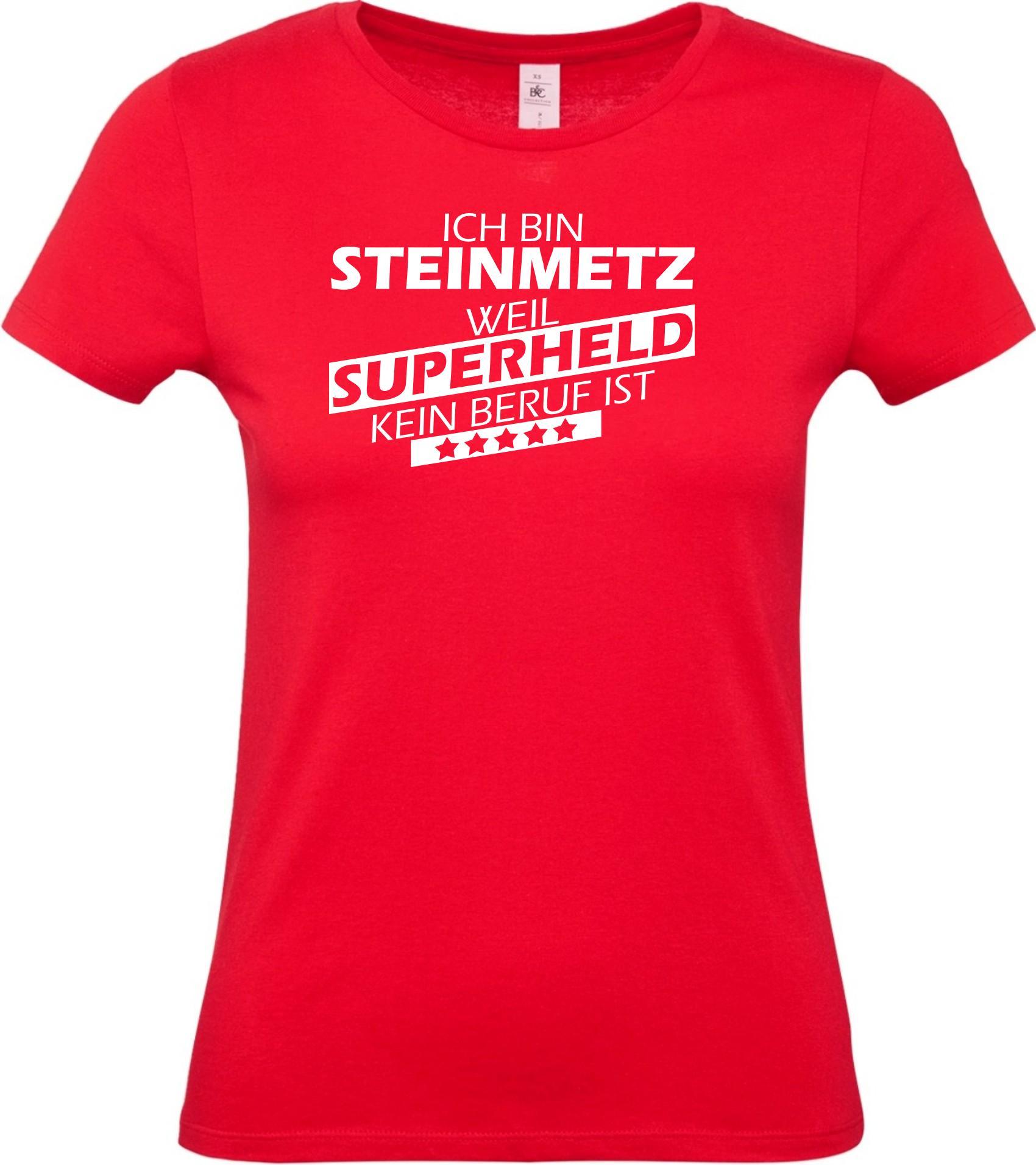 Lady-T-Shirt-Ich-bin-Steinmetz-weil-Superheld-kein-Beruf-ist