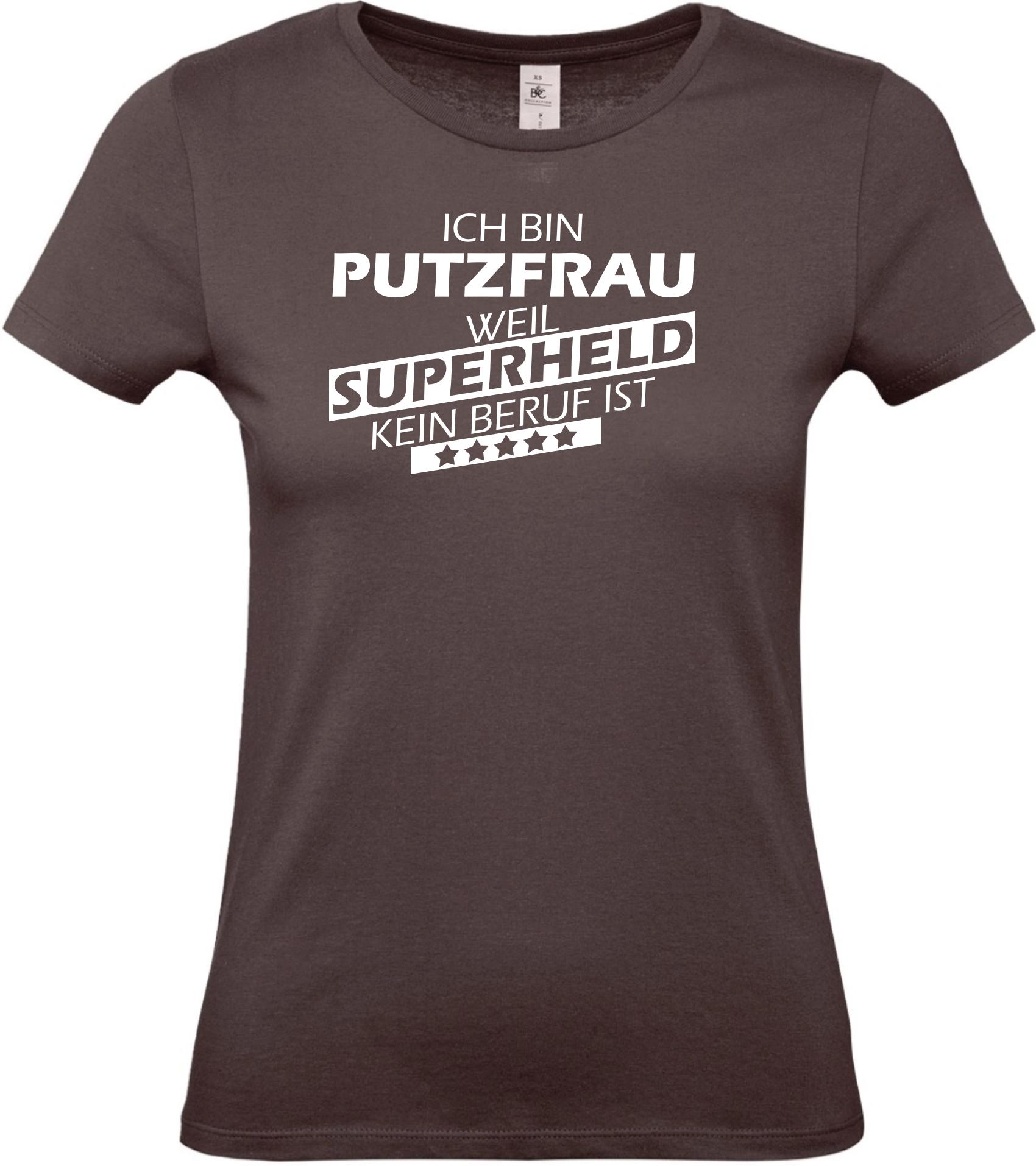 Lady-T-Shirt-Ich-bin-Putzfrau-weil-Superheld-kein-Beruf-ist