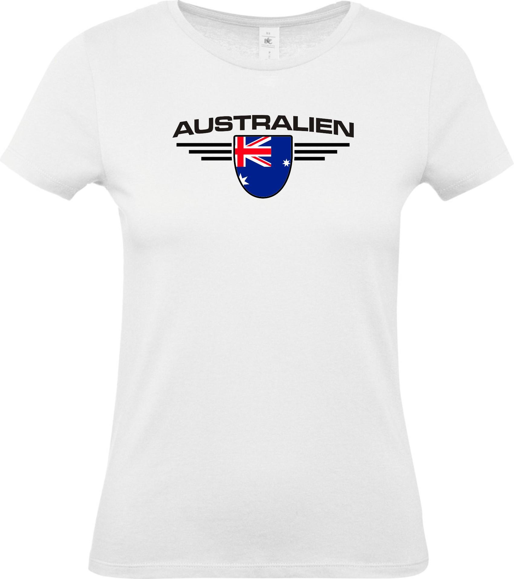 Lady-T-Shirt-Australien-Wappen-Land-Laender