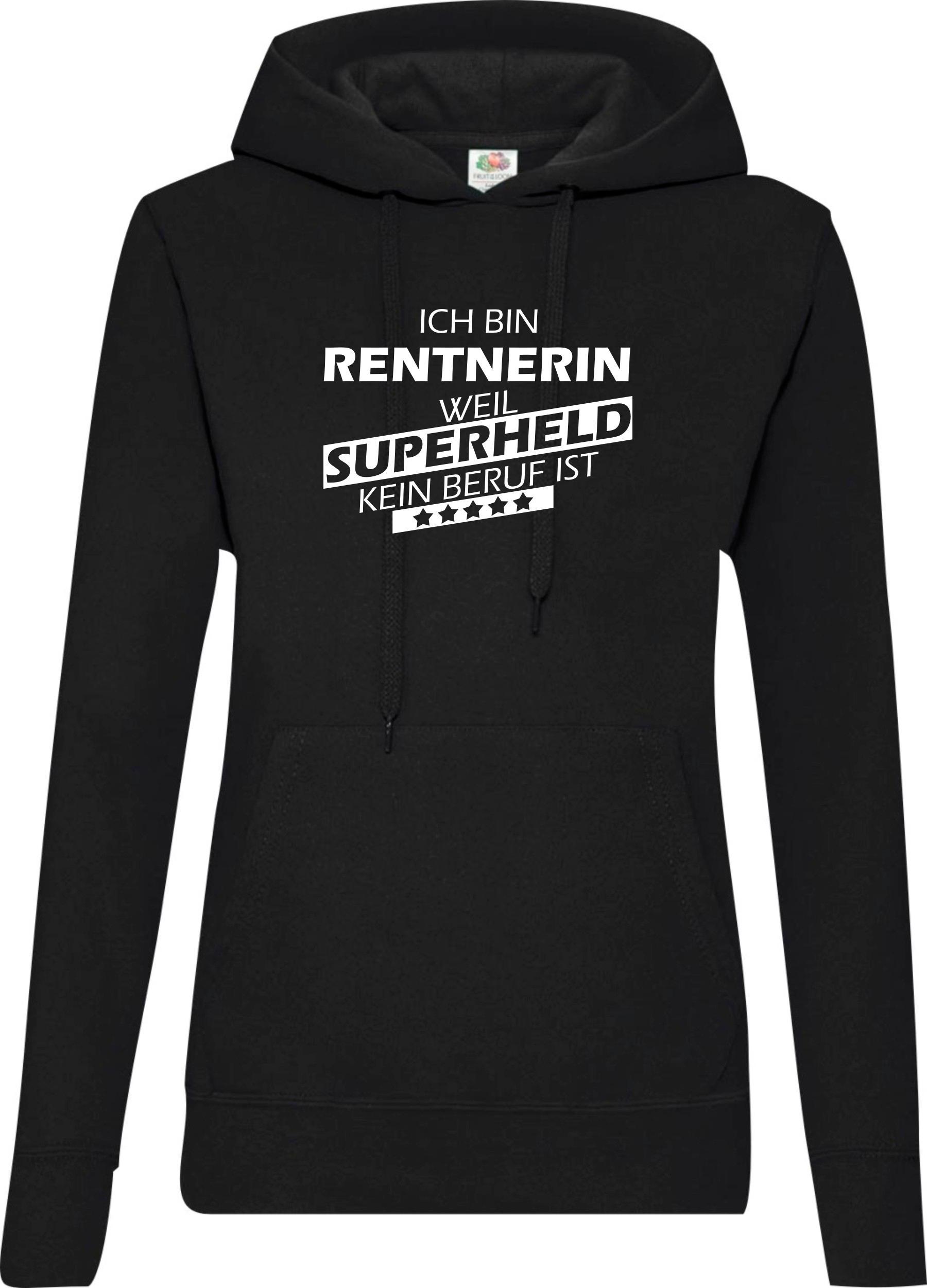 Lady-Kapuzensweatshirt-Ich-bin-Rentnerin-weil-Superheld-kein-Beruf-ist-Groessen