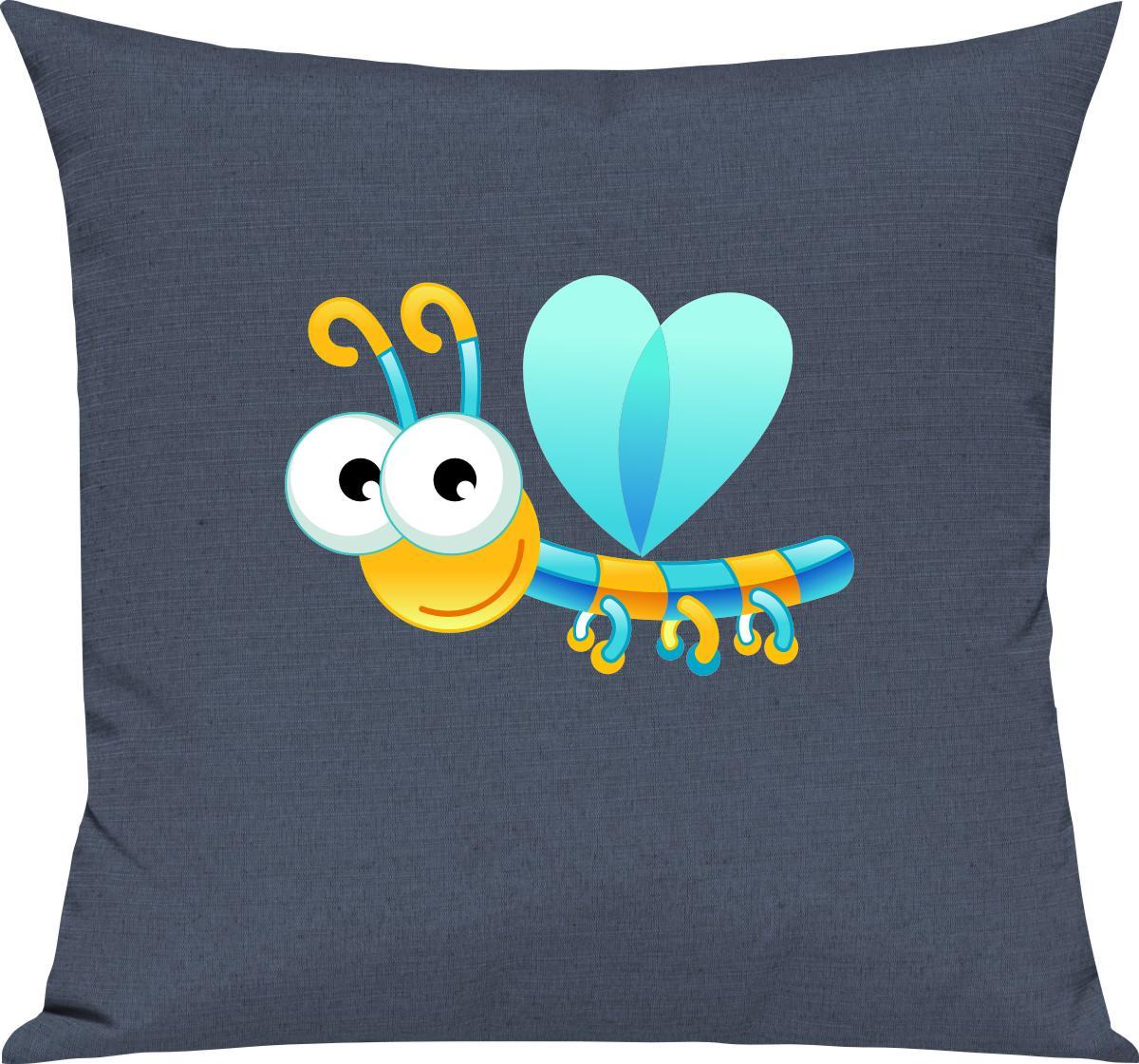 Indexbild 2 - Kinder Kissen, Libelle Insekt Tiere Tier Natur, Kuschelkissen Couch Deko,