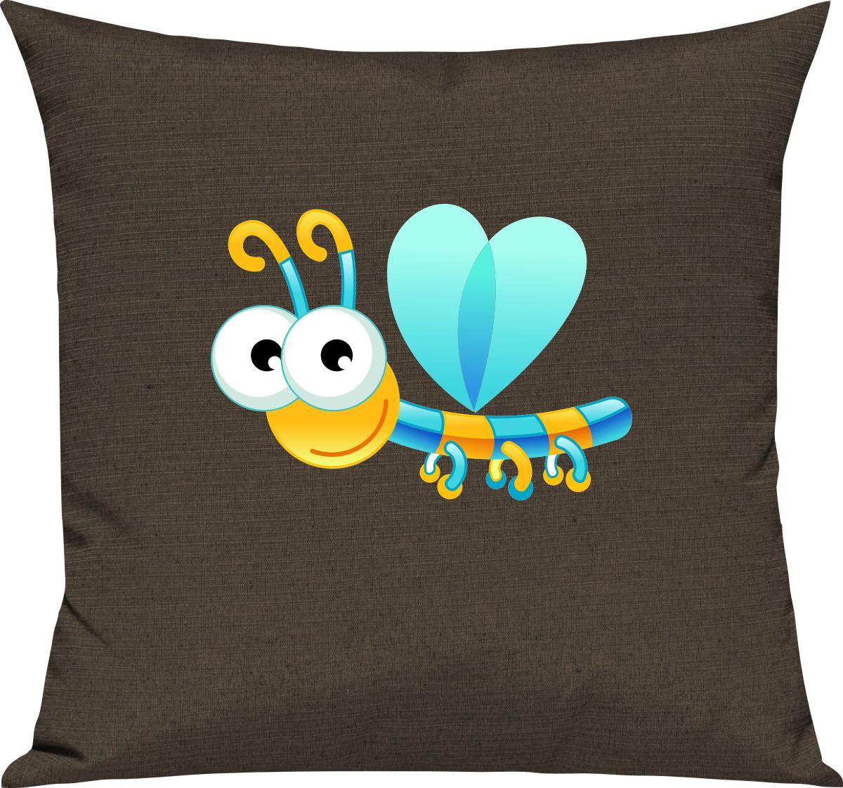 Indexbild 3 - Kinder Kissen, Libelle Insekt Tiere Tier Natur, Kuschelkissen Couch Deko,