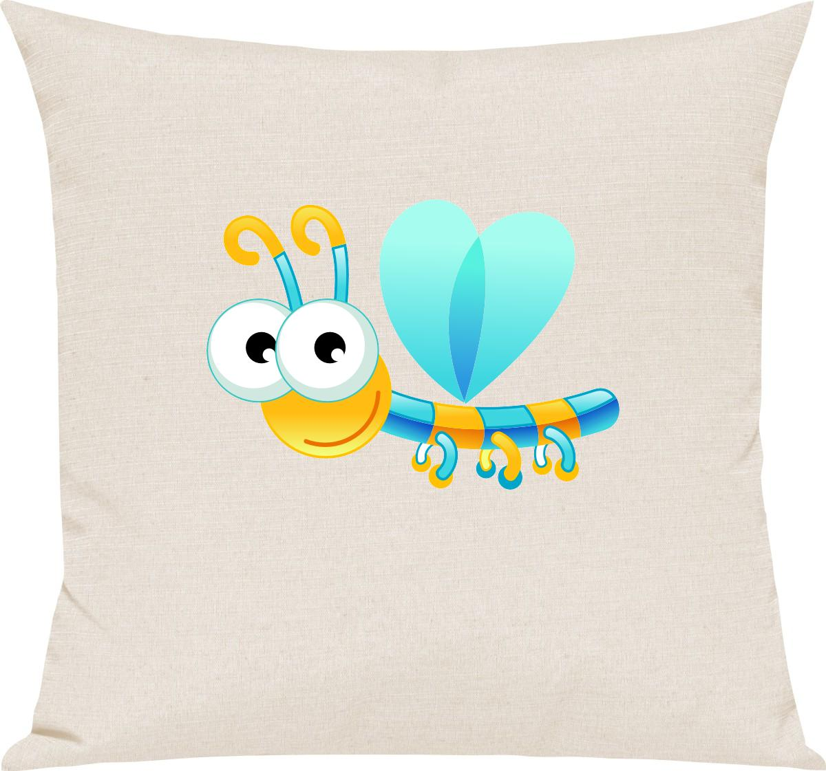 Indexbild 4 - Kinder Kissen, Libelle Insekt Tiere Tier Natur, Kuschelkissen Couch Deko,