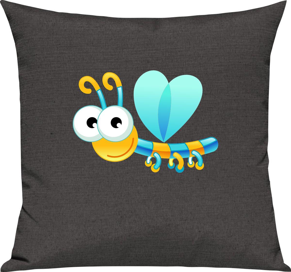 Indexbild 5 - Kinder Kissen, Libelle Insekt Tiere Tier Natur, Kuschelkissen Couch Deko,