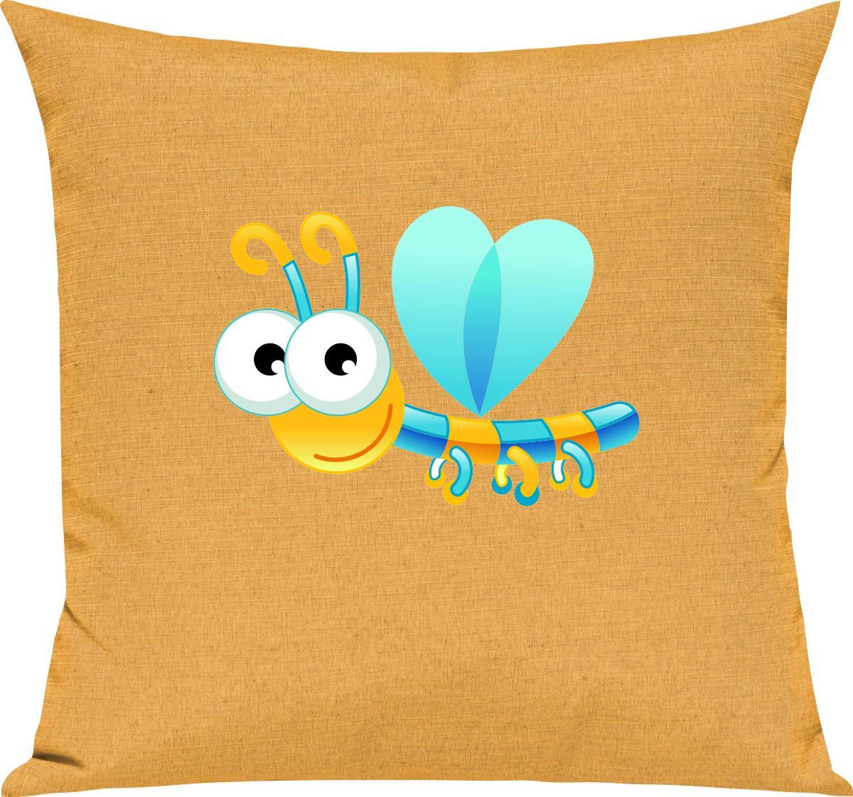 Indexbild 6 - Kinder Kissen, Libelle Insekt Tiere Tier Natur, Kuschelkissen Couch Deko,