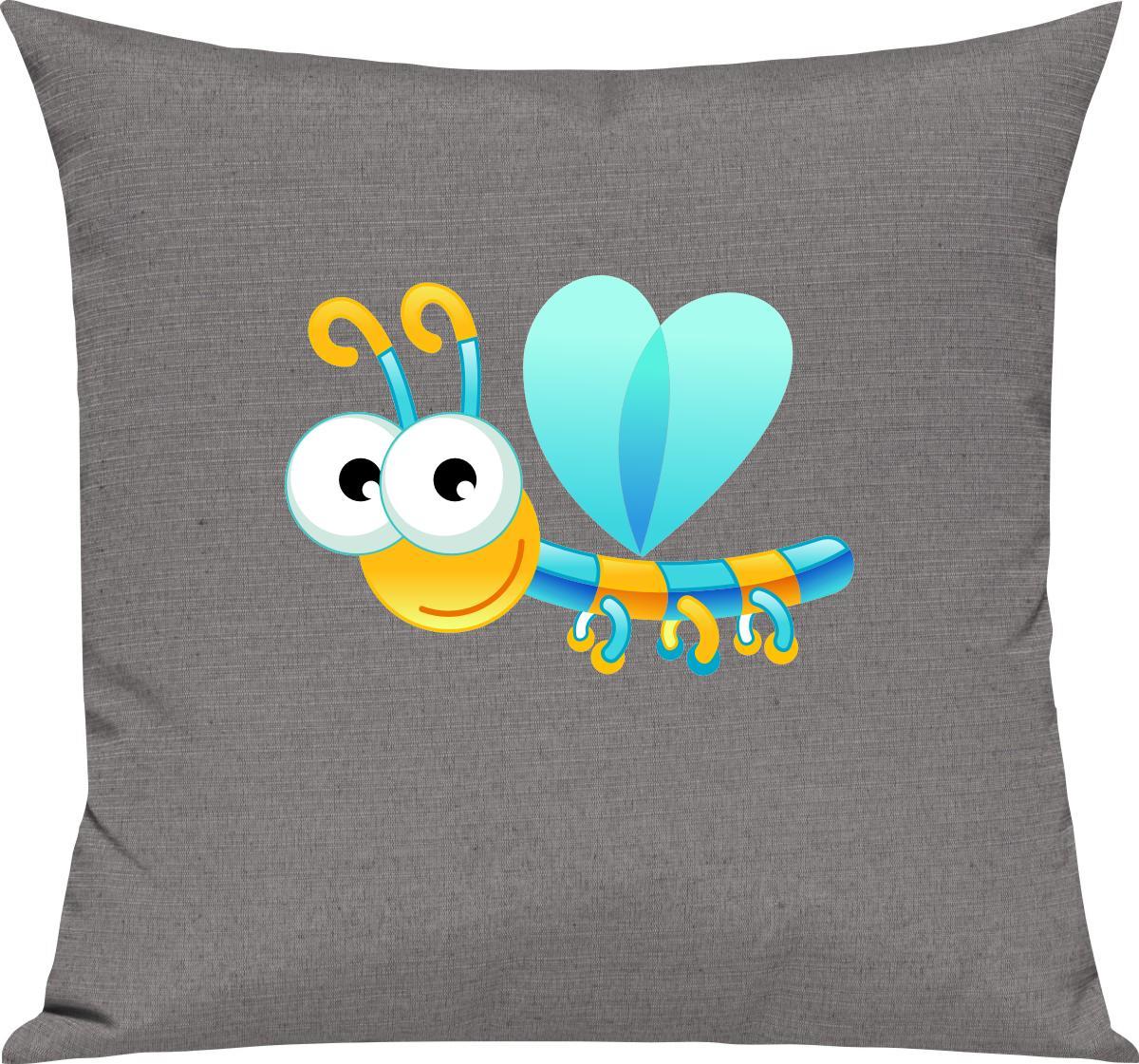 Indexbild 7 - Kinder Kissen, Libelle Insekt Tiere Tier Natur, Kuschelkissen Couch Deko,