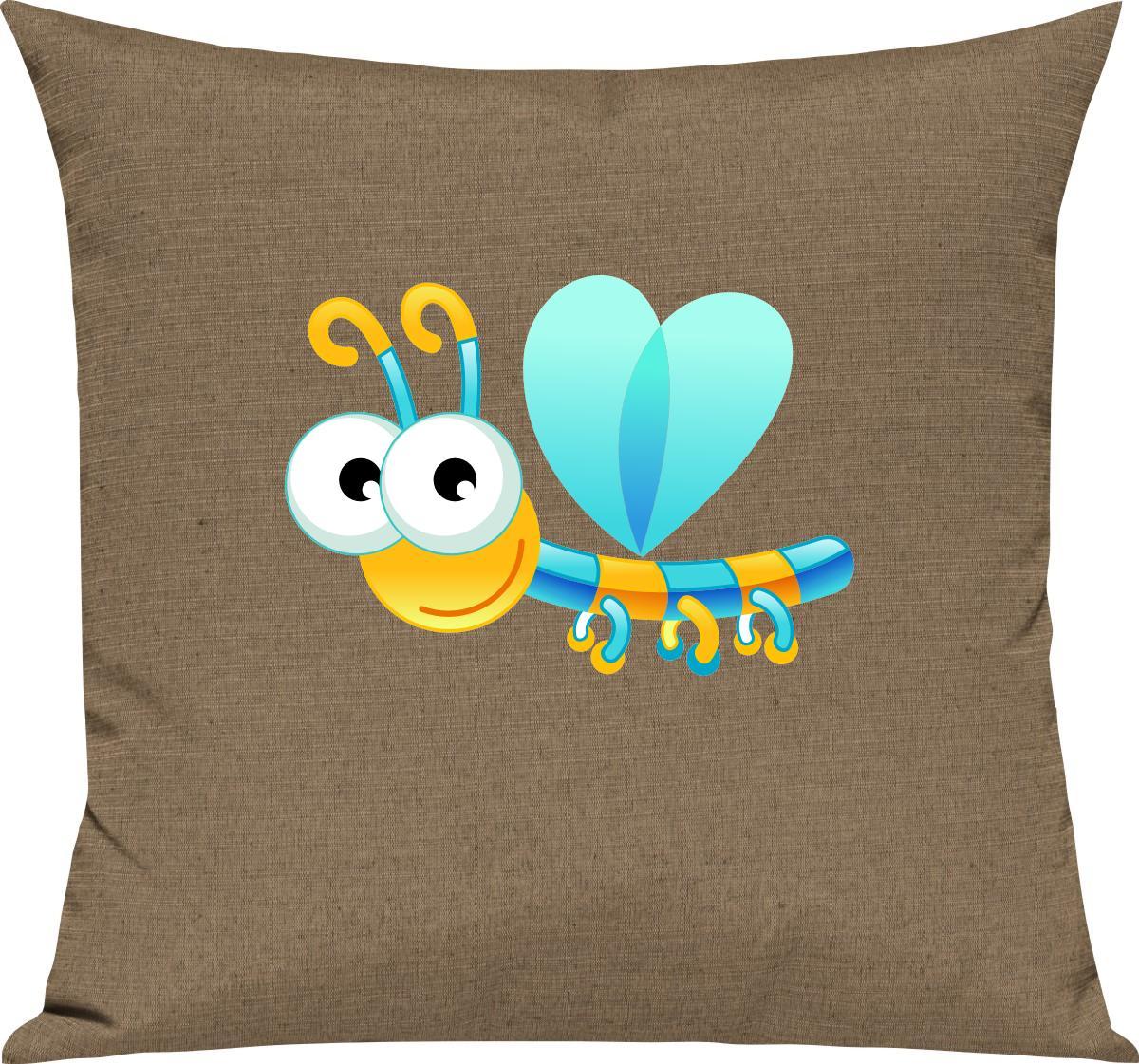 Indexbild 8 - Kinder Kissen, Libelle Insekt Tiere Tier Natur, Kuschelkissen Couch Deko,