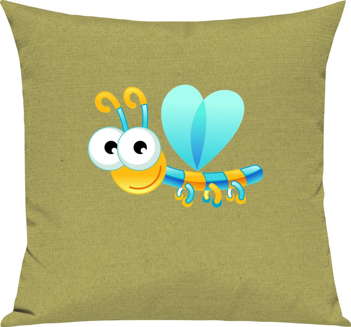 Indexbild 9 - Kinder Kissen, Libelle Insekt Tiere Tier Natur, Kuschelkissen Couch Deko,