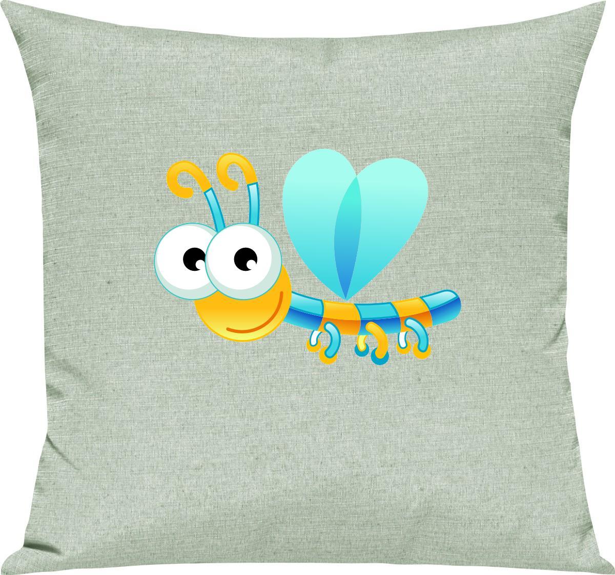 Indexbild 10 - Kinder Kissen, Libelle Insekt Tiere Tier Natur, Kuschelkissen Couch Deko,