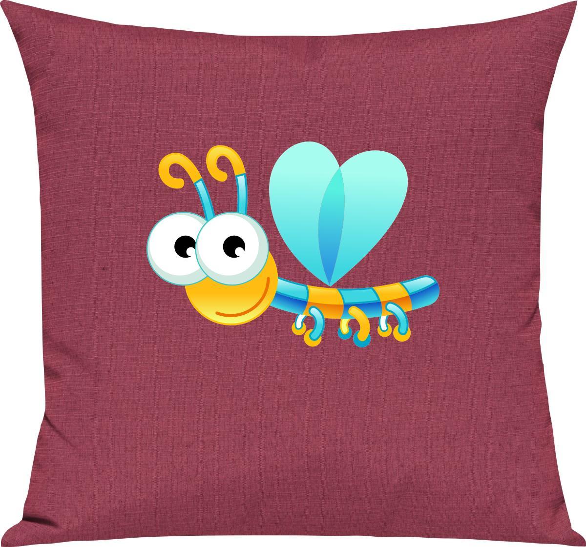 Indexbild 11 - Kinder Kissen, Libelle Insekt Tiere Tier Natur, Kuschelkissen Couch Deko,