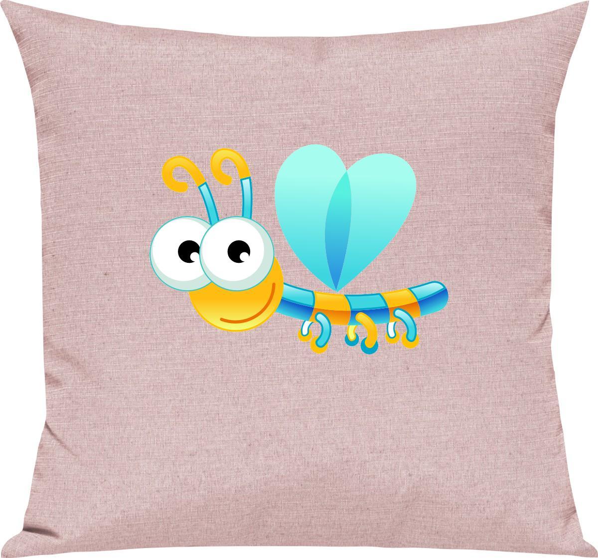 Indexbild 12 - Kinder Kissen, Libelle Insekt Tiere Tier Natur, Kuschelkissen Couch Deko,