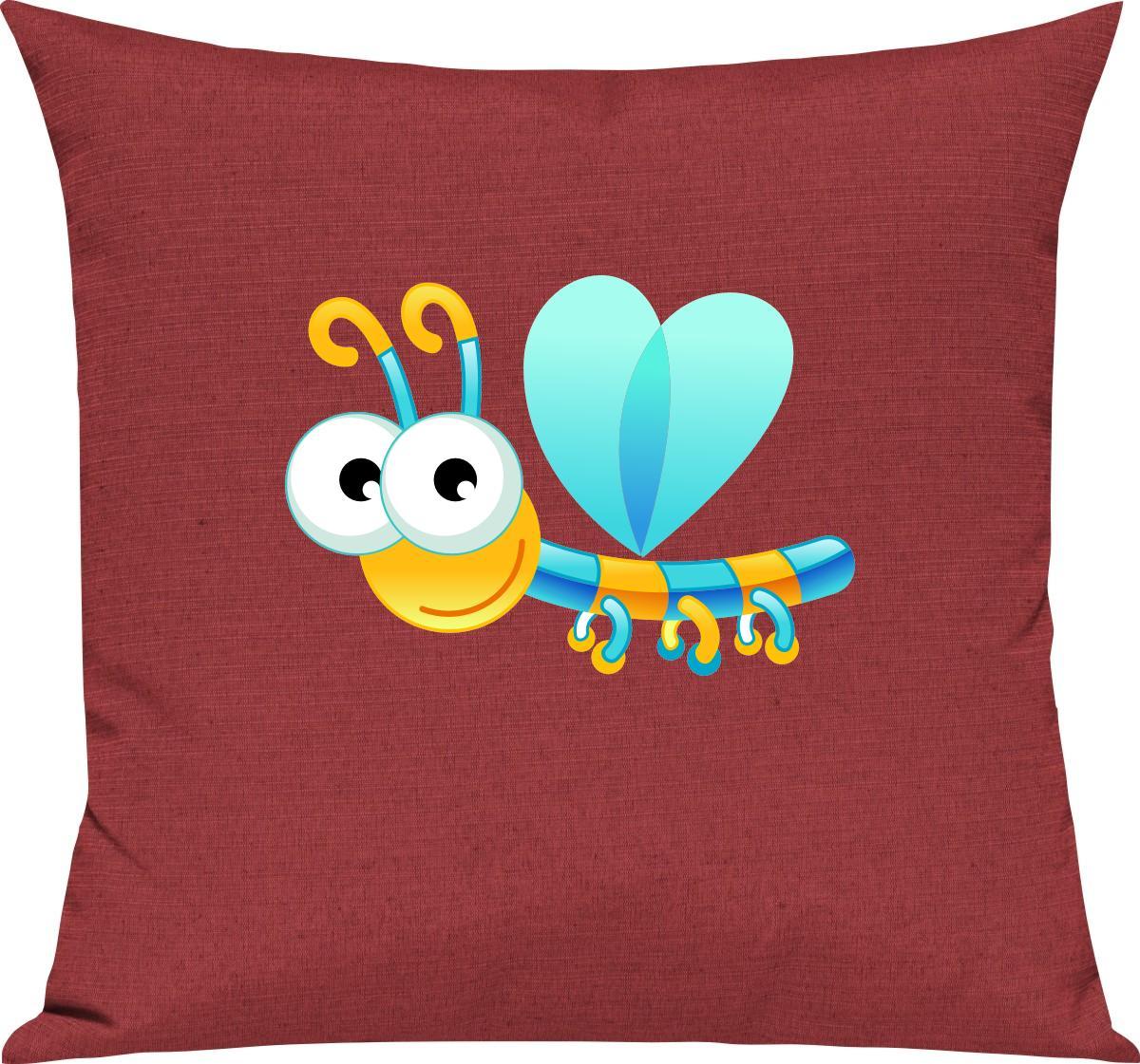 Indexbild 13 - Kinder Kissen, Libelle Insekt Tiere Tier Natur, Kuschelkissen Couch Deko,