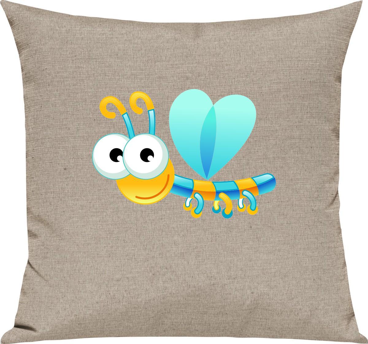 Indexbild 14 - Kinder Kissen, Libelle Insekt Tiere Tier Natur, Kuschelkissen Couch Deko,