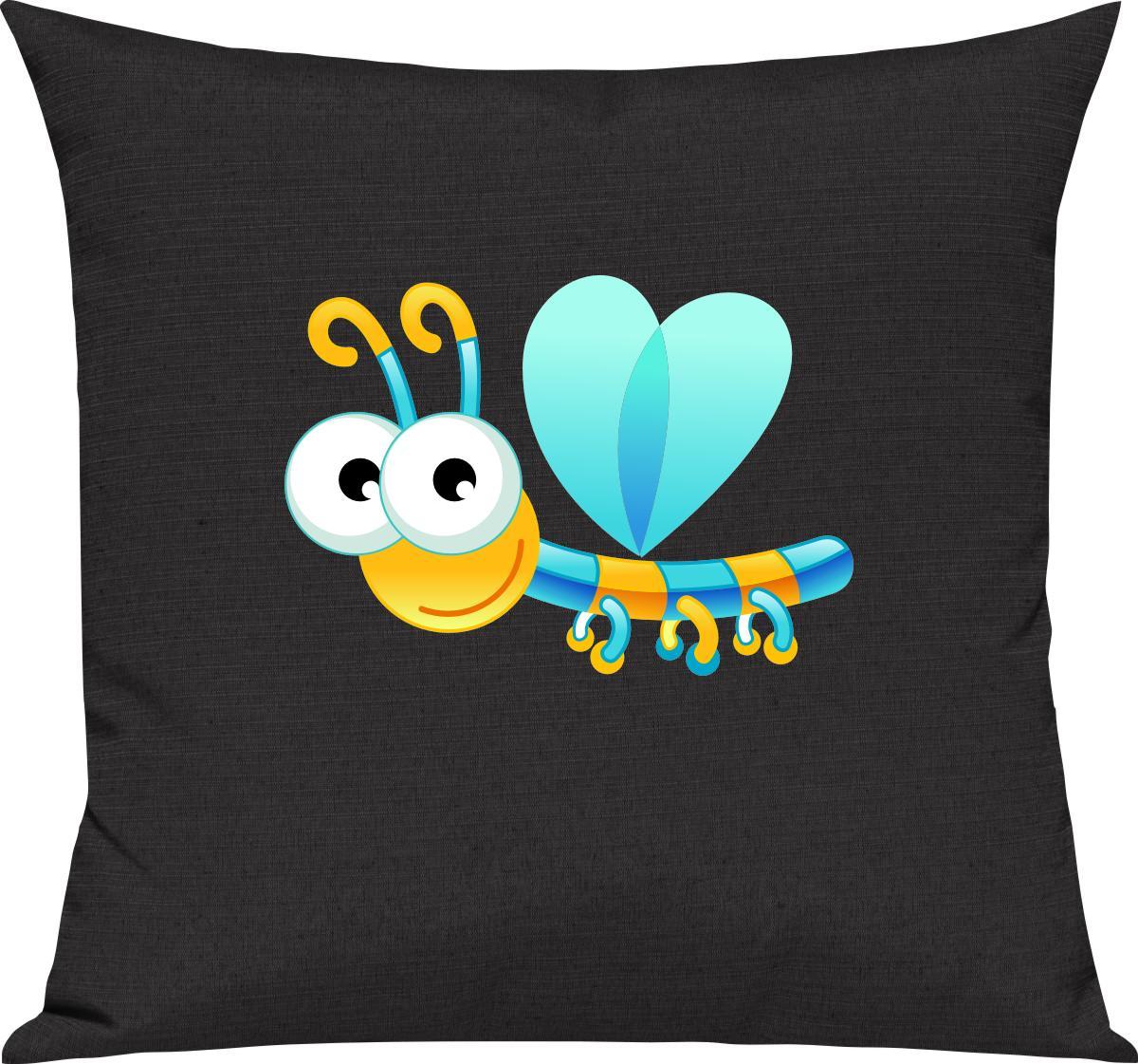 Indexbild 15 - Kinder Kissen, Libelle Insekt Tiere Tier Natur, Kuschelkissen Couch Deko,