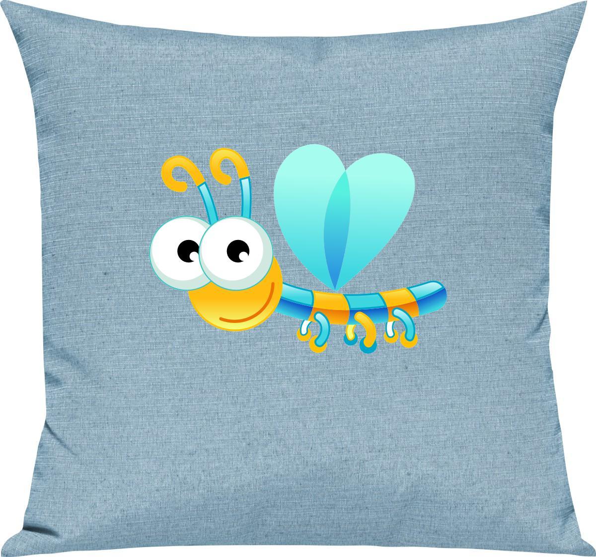 Indexbild 16 - Kinder Kissen, Libelle Insekt Tiere Tier Natur, Kuschelkissen Couch Deko,