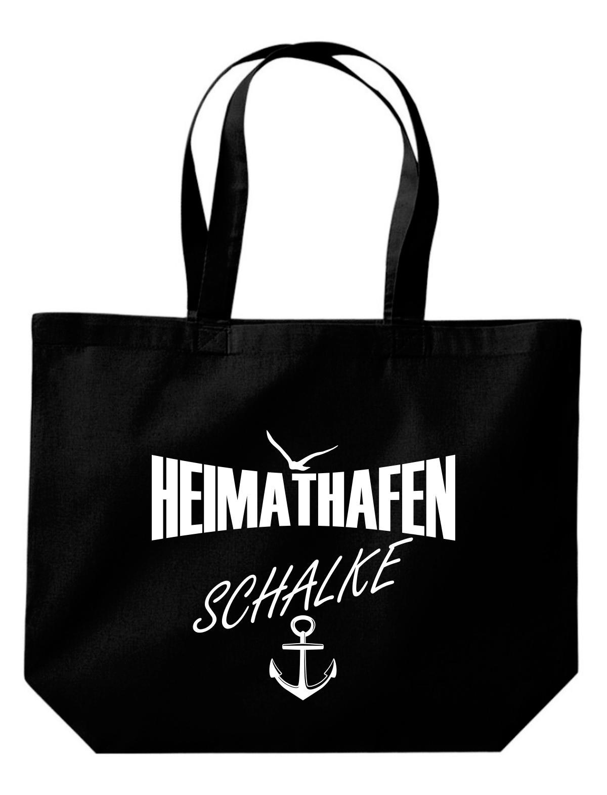 große Einkaufstasche, Shopper Heimathafen Schalke