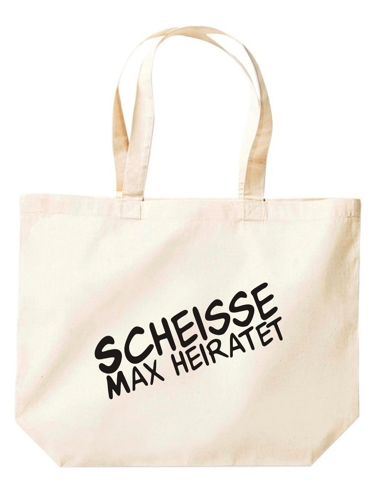 Shirtstown große Einkaufstasche, Shopper JGA Scheisse ... Heiratet