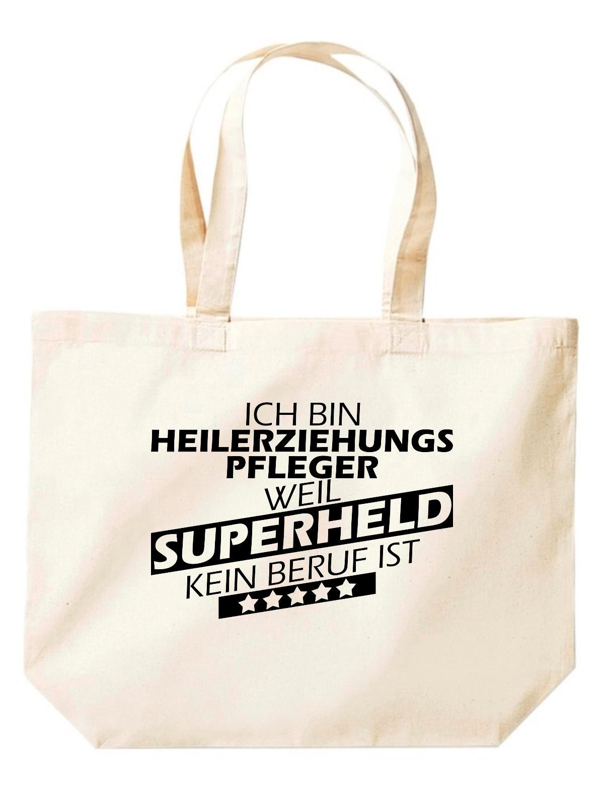 große Einkaufstasche, Ich bin Heilerziehungspfleger, weil Superheld kein Beruf i