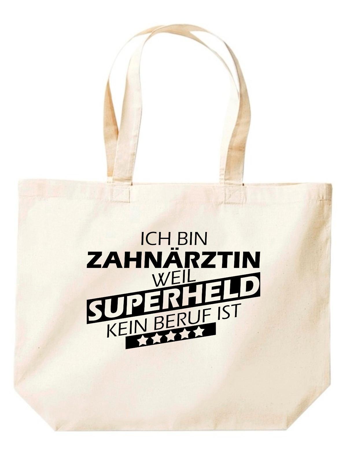 grosse-Einkaufstasche-Ich-bin-Zahnaerztin-weil-Superheld-kein-Beruf-ist