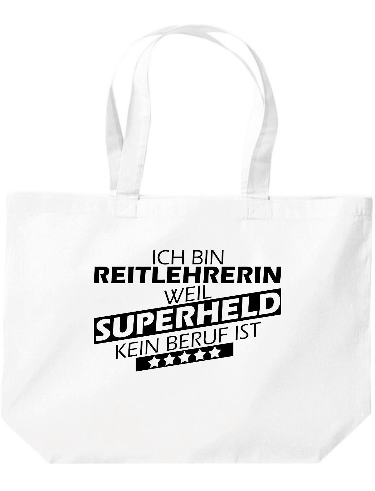 grosse-Einkaufstasche-Ich-bin-Reitlehrerin-weil-Superheld-kein-Beruf-ist
