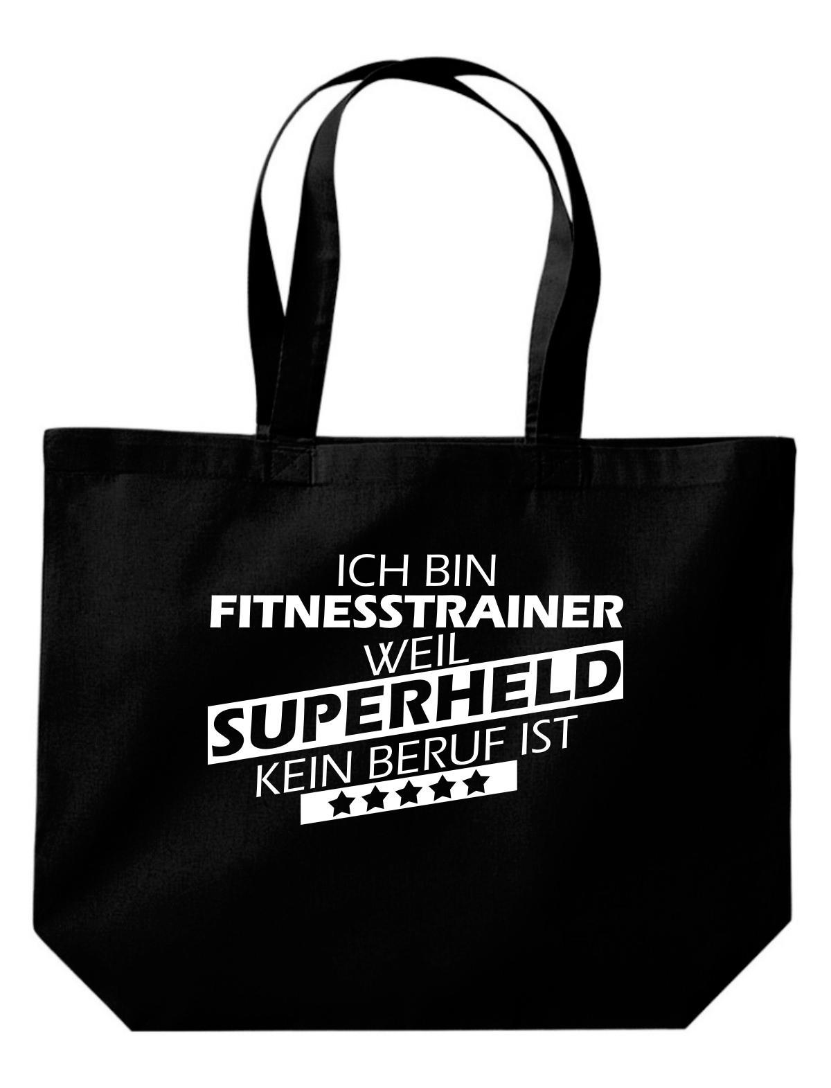 große Einkaufstasche, Ich bin Fitnesstrainer, weil Superheld kein Beruf ist,