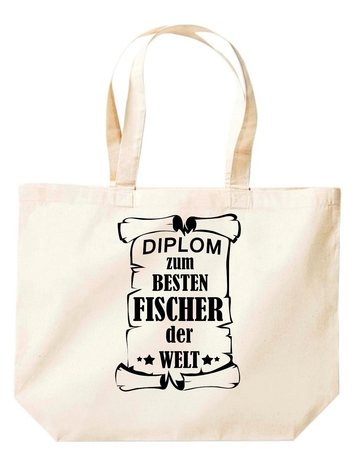 große Einkaufstasche, Diplom zum besten Fischer der Welt,