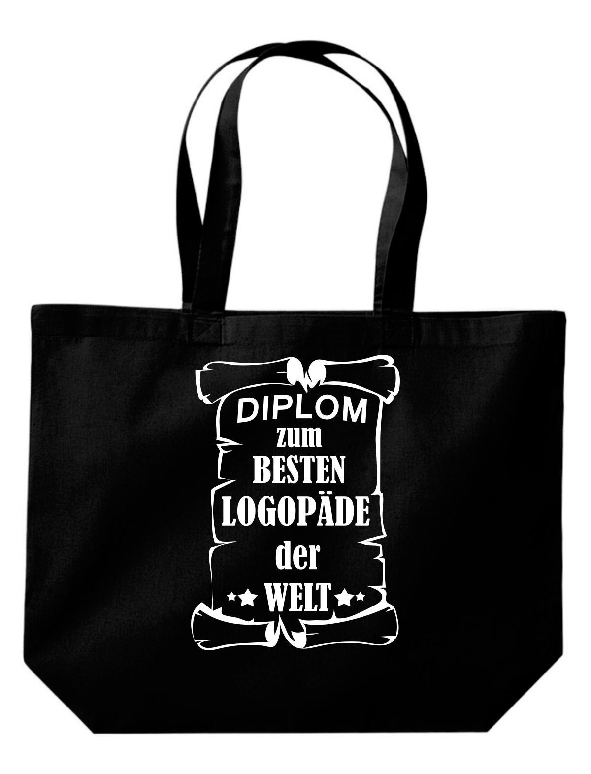 große Einkaufstasche, Diplom zum besten Logopäde der Welt,