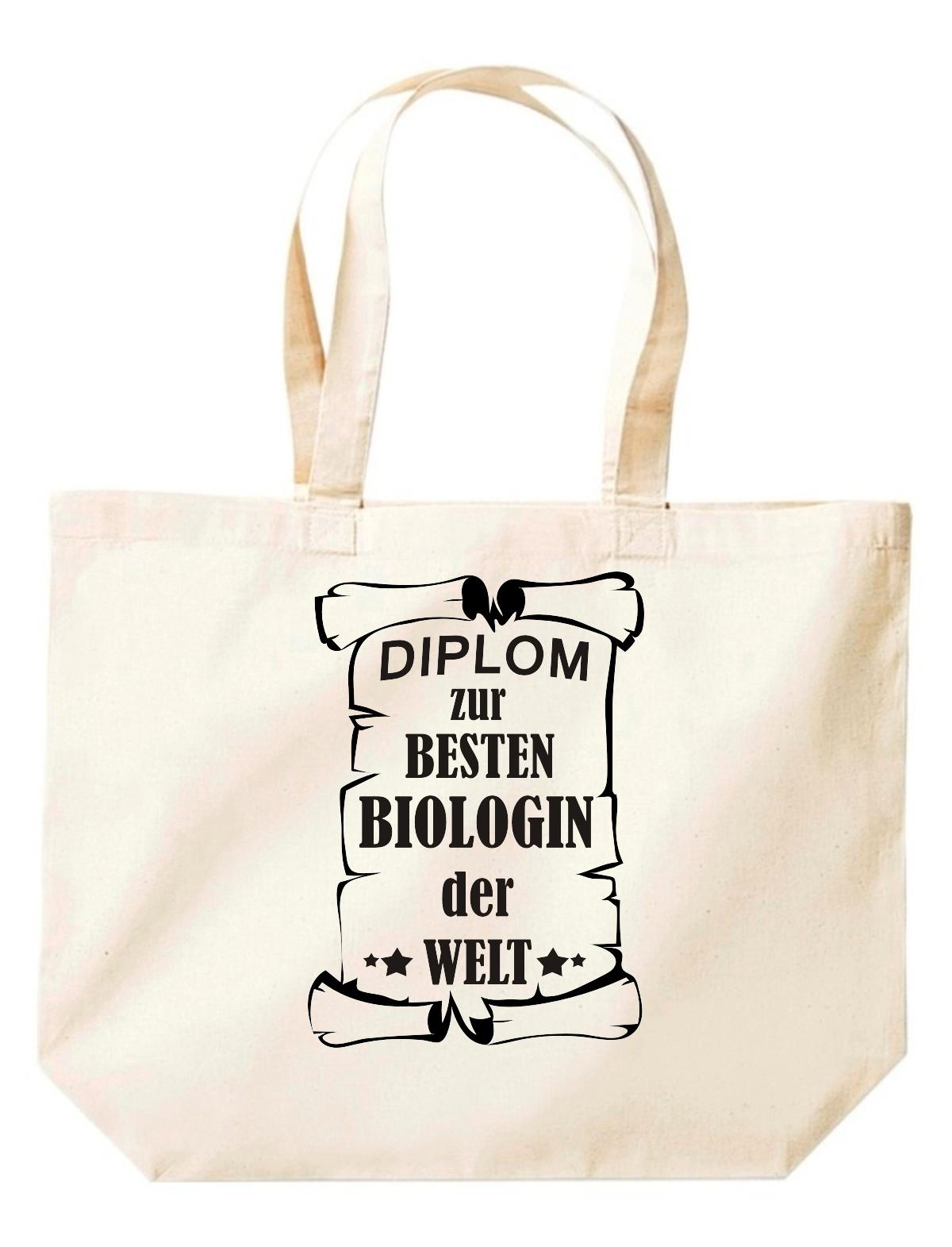 große Einkaufstasche, Diplom zur besten Biologin der Welt,