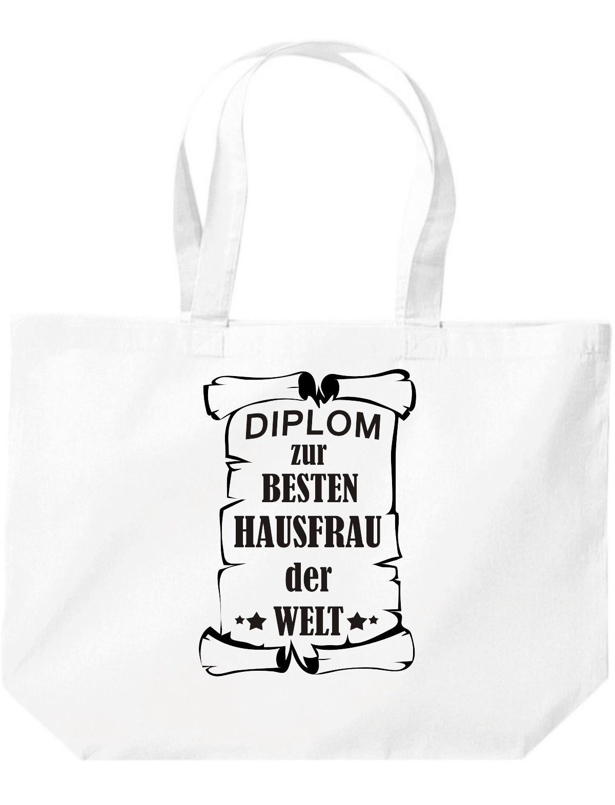 große Einkaufstasche, Diplom zur besten Hausfrau der Welt,