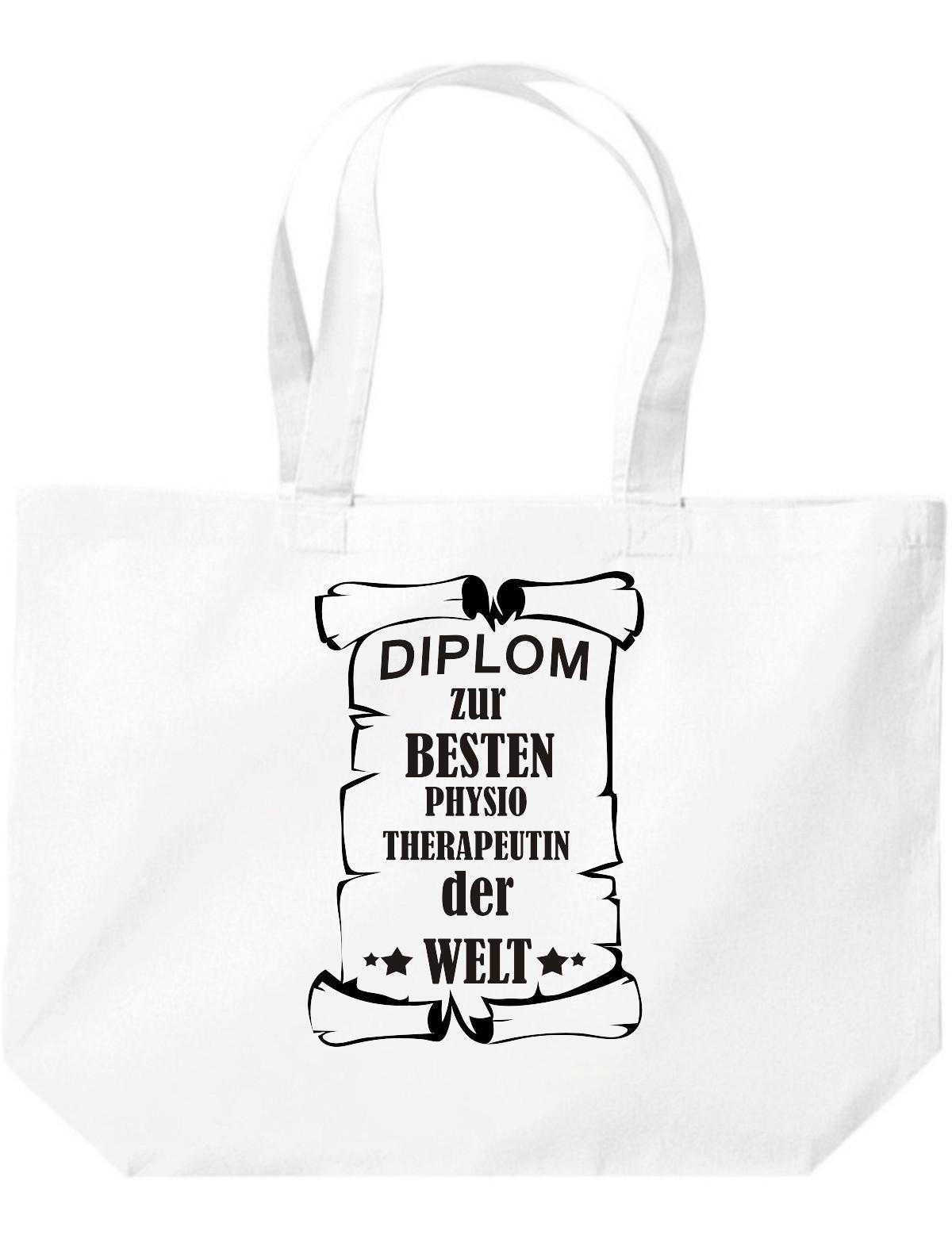 große Einkaufstasche, Diplom zur besten Physiotherapeutin der Welt,