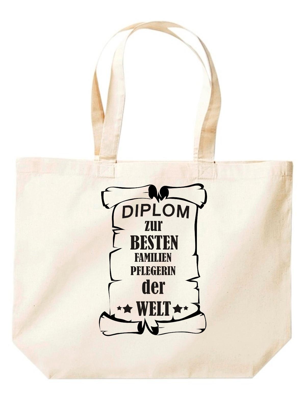 große Einkaufstasche, Diplom zur besten Familienpflegerin der Welt,