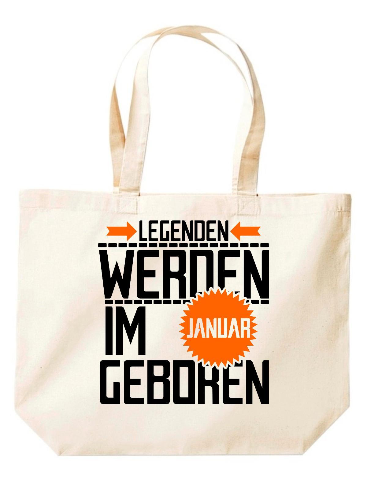 Shirtstown große Einkaufstasche, Legenden werden im JANUAR geboren,