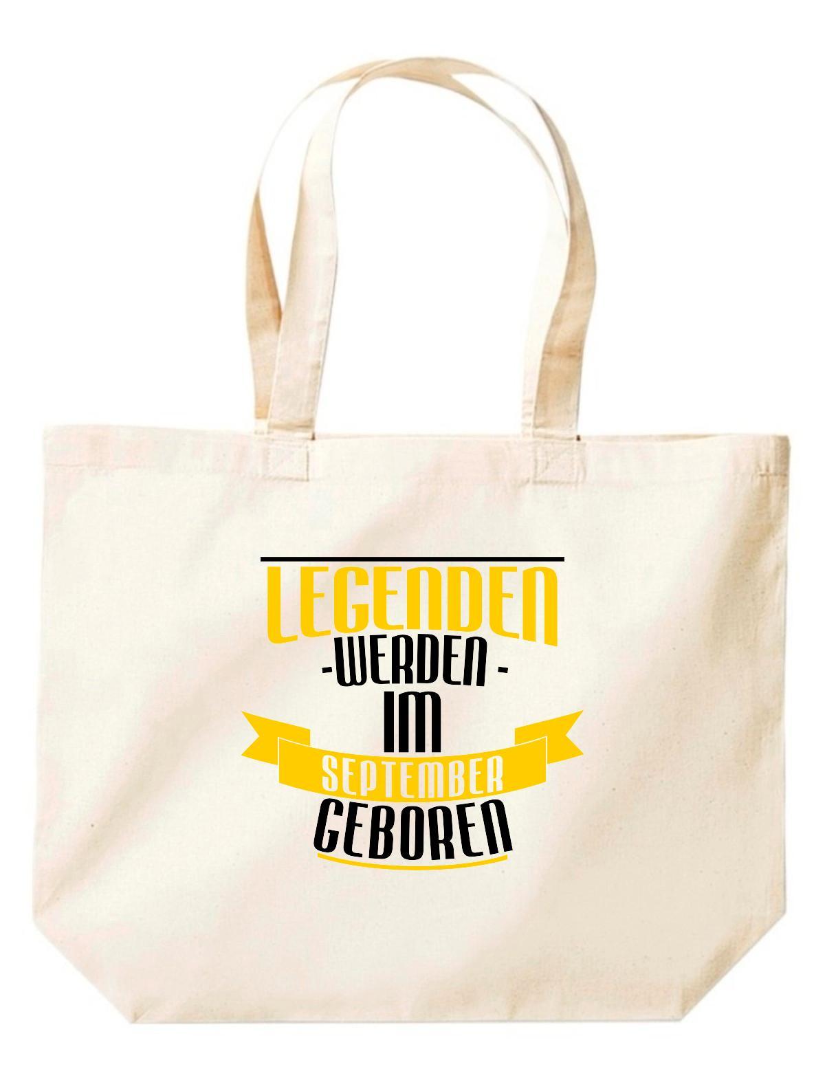 große Einkaufstasche, Legenden werden im SEPTEMBER geboren,