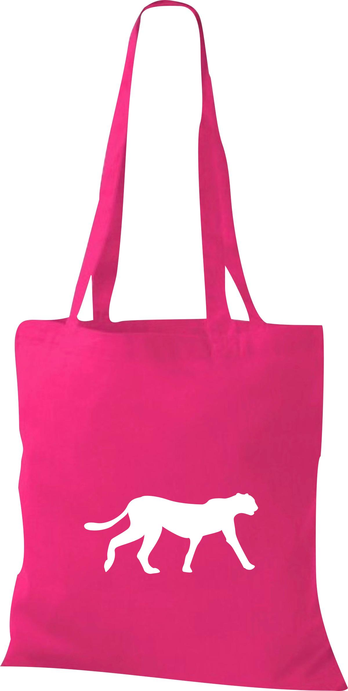 Stoffbeutel lustige Tiermotive, Raubkatze, Puma Kult Baumwolltasche viele Farben