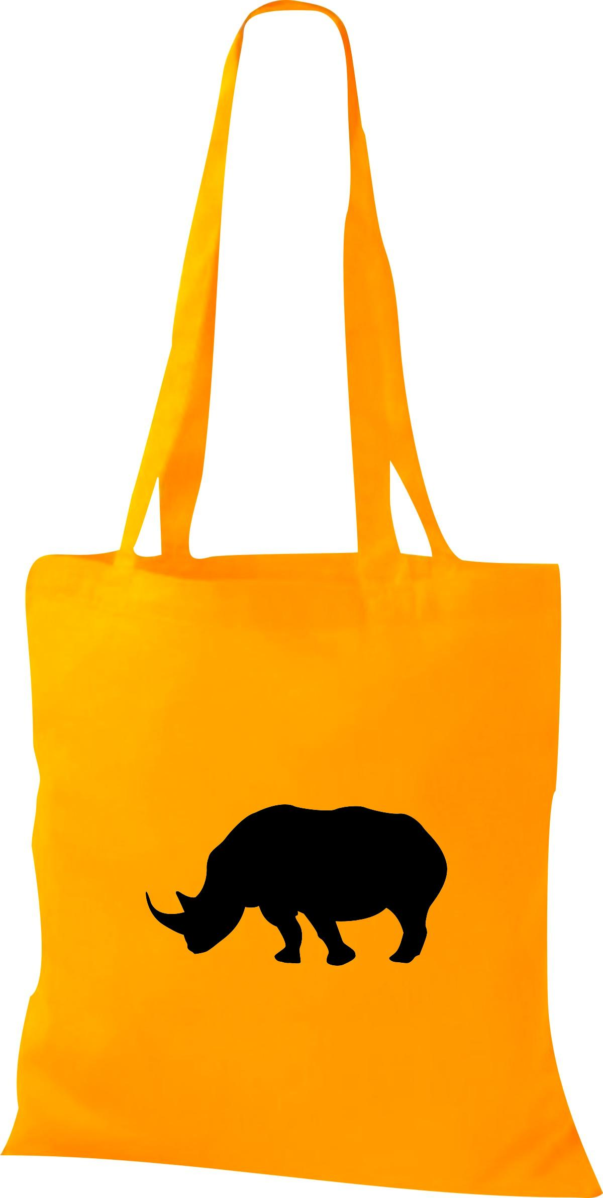 Stoffbeutel lustige Tiermotive,Nashorn Kult Baumwolltasche viele Farben