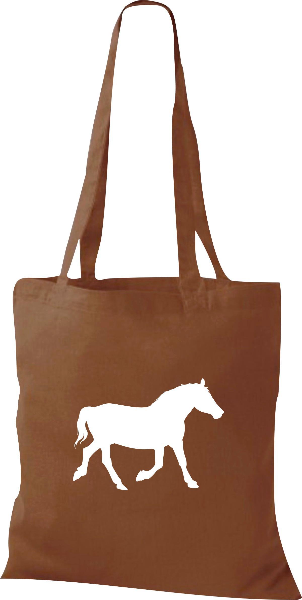 Stoffbeutel lustige Tiermotive, Pferd, Pony Kult Baumwolltasche viele Farben