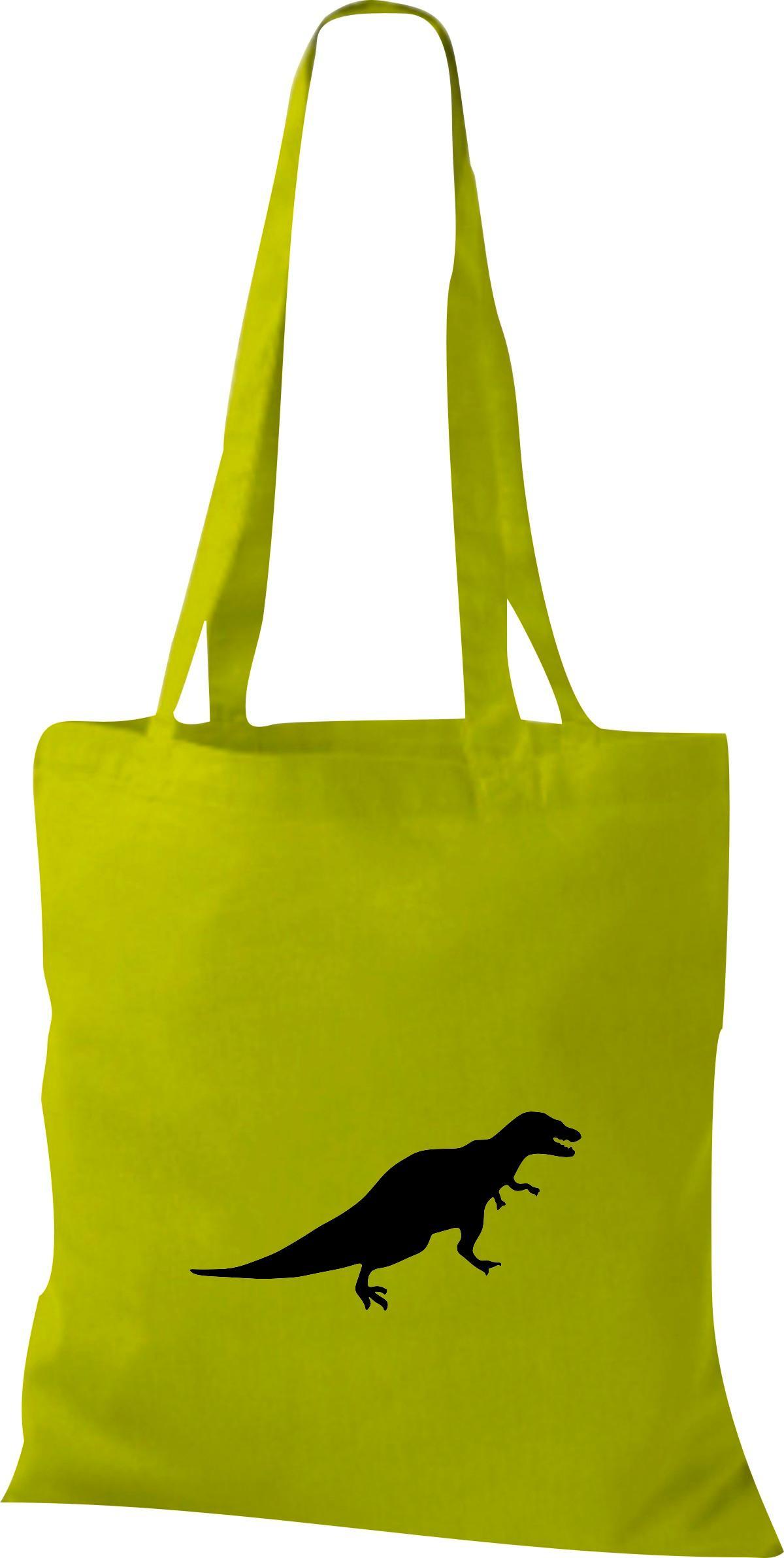 Stoffbeutel lustige Tiermotive, Dino Dinosaurier Kult Baumwolltasche viele Farbe
