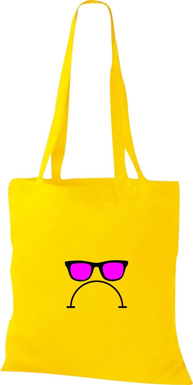 Stoffbeutel Sunglasses And bad Smile Kult Baumwolltasche viele Farben